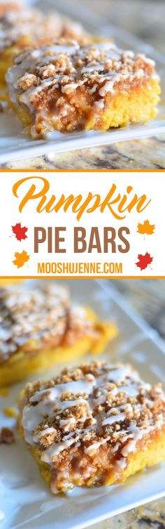 Pumpkin Pie Bars. Th
