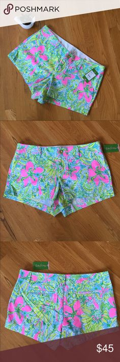 🎉HP💕Lilly Pulitzer Walsh Shorts Coconut Jungle14 Brand New with Tags.  Get this Lilly Pulitzer Walsh shorts in Coconut Jungle Print.  My best friend is moving and we are clearing out her closet.  Get these shorts for a fraction of the retail price that she paid for it.  And c'mon it's Lilly Pulitzer😃! Lilly Pulitzer Shorts
