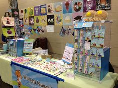 The Kimchi Kawaii table on Day 2 at Anime Boston.