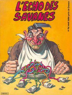 L'Écho des Savanes 64 - mai 1980 - illustration Solé