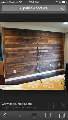 Must do to a wall in our family room!