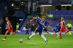 Chelsea storm into Champions League quarter-finals with impressive win over Atletico Madrid, as Hakim Ziyech nets crucial second goal of the tie, before Emerson wraps it up in injury-time after Stefan Savic was sent off. Chelsea Match, Chelsea Fc, Atletico Madrid Champions League, Rio Ferdinand, Christian Pulisic, Stranger Things Have Happened, Free Kick, Stamford Bridge, Goalkeeper