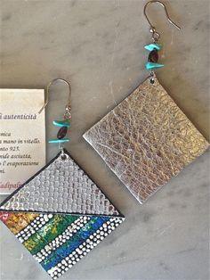 """""""Lima"""" orecchini, collezione """"Machu Picchu"""" di Insight by Ida Di Palma, autunno 2013. Ami in argento 925 rodiato labradorite e turch..."""