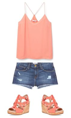 """""""Summer-not done"""" by kmc03-569 on Polyvore featuring Current/Elliott, MANGO and Sperry"""