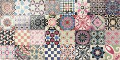 Carrelage motif très divers --> décoration