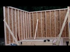 Raising the roof on English Garden shed - YouTube