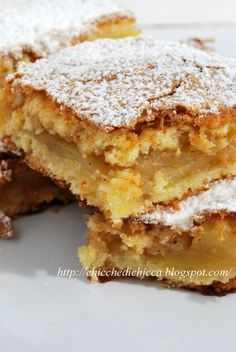 The goodies gem: Squares Rustici to Apples Italian Cake, Italian Desserts, Italian Recipes, Apple Recipes, Sweet Recipes, Bakery Recipes, Cooking Recipes, Torte Cake, Sweet Cakes