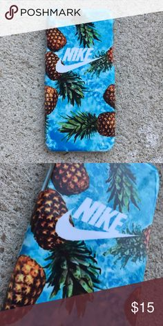 Nike Hawaiian Pineapple Case for any iPhone!! Brand New in the packaging ! High Quality dope printed iPhone case !3D printed design all around the case.   Price is firm unless looking for bundle deals. Then message me!   Same or next day shipping with USPS Tracking provided!   ***Message me or comment before purchase of the phone size you have, or else I will send the size in the title***  ALL CASES AVAILABLE FOR IPHONE 6/6S , 6 Plus / 6S Plus, iPhone 7, and iPhone 7 Plus!   Much more dope…