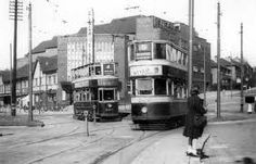 Trams in Leeds. Remember travelling with Nana Connors from Harehills to Roundhay Park Old Pictures, Old Photos, My Town, Eastern Europe, Leeds, Vintage Photography, Yorkshire, Past, Beautiful Places