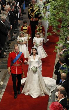 Prince William Windsor and Kate Middleton wedding on 29 April 2011