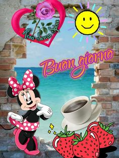 Italian Memes, Good Morning Messages, New Years Eve Party, Minnie Mouse, Dolce, Disney Characters, Italy, Beautiful, Lavender