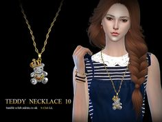 Necklace N10 by S-Club LL at TSR • Sims 4 Updates