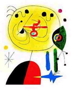 Art Print: Et Fixe Les Cheveux d'une Etoile Wall Art by Joan Miró by Joan Miro : Framed Art Prints, Framed Artwork, Poster Prints, Wall Art, Framed Wall, Kandinsky, Joan Miro Paintings, Oil Paintings, Hieronymus Bosch