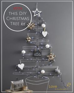 Make your own DIY chalk board Christmas tree with Interior Stylist, Maxine Brady at WeLoveHomeBlog and enter for your chance to win a kit to make your own at home.