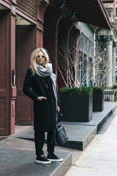 Heleneisfor #MBMuse - Matt Bernson  phantom sneaker, Isabel Marant jumpsuit, Warby Parker Dorothy sunglasses, Zady coat