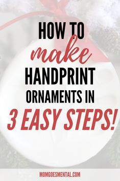 Make DIY Handprint Ornaments in 3 Easy Steps! - Everything you need to make your own keepsake handprint ornaments in just a few quick and easy steps! Great as a craft for kids or winter activity. Winter Activities For Kids, Christmas Activities, Christmas Crafts, Christmas Ideas, Craft Projects For Kids, Diy Projects, Kids Crafts, Oven Bake Clay, Baking Clay