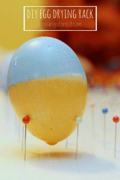 Simple DIY Easter Egg Drying Rack ~ lots of easter egg decorating ideas