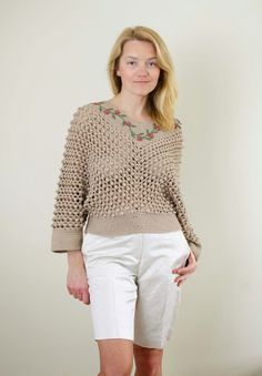 "Outstanding Crochet: New project - pullover ""Spring Beauty"". Pattern."