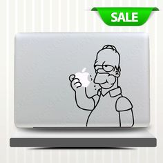 Homer Simpson  - Decal for Macbook Pro, Air or Ipad Stickers