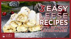 3 Easy Lefse Recipes & Filling Ideas How to Make Lefse Holiday Baking, Christmas Baking, Norwegian Lefse Recipe, Norwegian Christmas, Scandinavian Food, Pizza Bake, Baking Recipes, Yummy Recipes, Pizza
