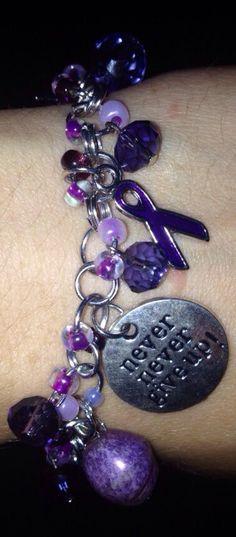 Crohn's Disease/ Pancreatic Cancer Awareness Bracelet on Etsy, $15.00