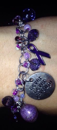 Crohn's Disease/ Pancreatic Cancer Awareness Bracelet on Etsy, $15.00