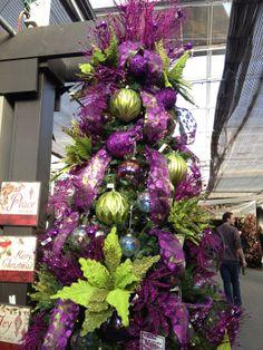 Purple Green Christmas Tree