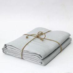 Pre-Washed Linen Flat Sheet | Cool Linen Sheets | Gray-Linenshed – linenshed