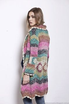 Florencia Llompart otoño invierno 2014. Moda sacos tejidos ...