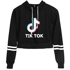 tik tok outfits Memoryee Tik Tok Kapuzenpullover L - tiktok Crop Tops For Kids, Sports Crop Tops, Cute Crop Tops, Cropped Tops, Cami Tops, Cute Lazy Outfits, Cute Casual Outfits, Swag Outfits, Teen Fashion Outfits