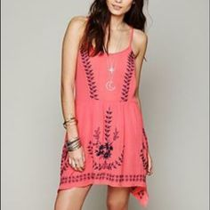 Free People Embroidered Slip Xs