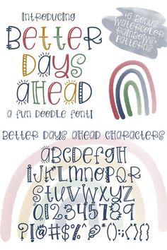 Cute Fonts Alphabet, Doodle Alphabet, Handwriting Alphabet, Hand Lettering Alphabet, Cute Handwriting Fonts, Letter Fonts, Doodle Fonts, Doodle Lettering, Creative Lettering