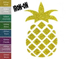 A personal favorite from my Etsy shop https://www.etsy.com/listing/279089516/diy-pineapple-iron-on-vinyl-applique