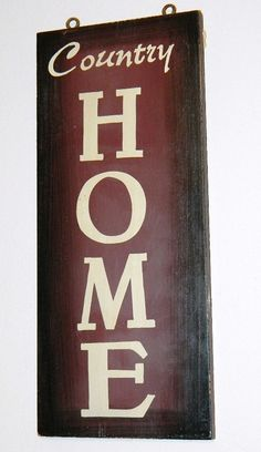 Country Home Western Wood Sign Wall Decor by CowgirlFlairStore, $11.95