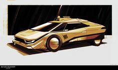 Blade Runner 2049 Concept Art by Adam Baines Blade Runner Car, Blade Runner 2049, Concept Art World, Concept Cars, Indiana Jones Films, Syd Mead, Denis Villeneuve, Retro Waves, Car Illustration