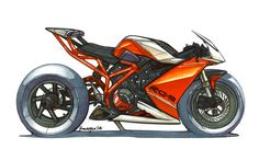 KTM RC9 / Marker Sketch / by Jean-Thomas MAYER / ISD