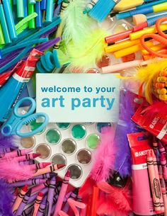 art party - art fundraiser with this theme! Diy Party Themes, Party Games, Party Ideas, Event Ideas, Party Favors, Art Birthday, Birthday Parties, Birthday Ideas, Princess Birthday