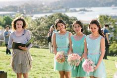 Each Bridesmaid held a bouquet with different blond tied together by using baby breath in each Image by Daniel K Chueng Sutoritera Flowers Chanele Rose flowers  observatory-hill-mai-ken_0049