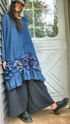 Flouncy Windung Tunika Kleid von sarahclemensclothing auf Etsy