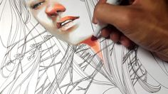 This is a beautiful video showing the exquisite control of 27-year old Indonesian artist Elfan Diary as he draws a new portrait. Watch as he works with Fine Color markers, a Sakura Pigma Micron pen, and standard Faber-Castell colored pencils over a period of about three hours. Beautiful work. Click on the pic to go see the video. :)