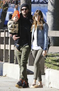 S-Trolls in the park! Justin Timberlake and Jessica Biel took baby Silas to the playground in Beverly Hills on Sunday
