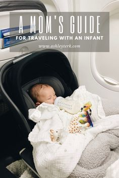 To be honest, I had tons of anxiety and stress before flying with Ryser for the first time. Our first flight was when Ryser was just 4 weeks old and… Traveling With Baby, Travel With Kids, Baby Hacks, Mom Hacks, Baby Tips, Travel Workout, Baby Development, What To Pack, Baby Essentials