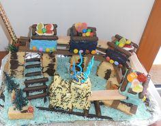 kids parties#3d train cake#festas crianças#bolo 3d combóio
