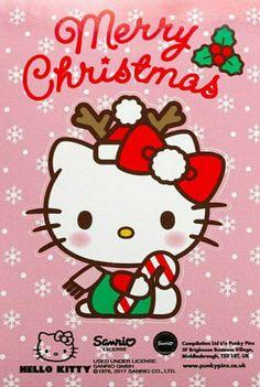 Hello Kitty / Joyeux Noël Hello Kitty Art, Hello Kitty My Melody, Hello Kitty Themes, Sanrio Hello Kitty, Grumpy Cat Christmas, Hello Kitty Christmas, Hello Kitty Wallpaper, Christmas Wallpaper, Hello Kitty Imagenes