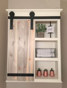 DIY sliding door bathroom cabinet