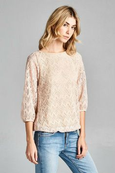 Lace Knit Chevron Top $18.95 http://wildlarkboutique.com/product/lace-knit-chevron-top/