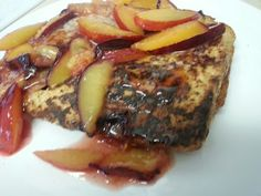French Toast with plums!