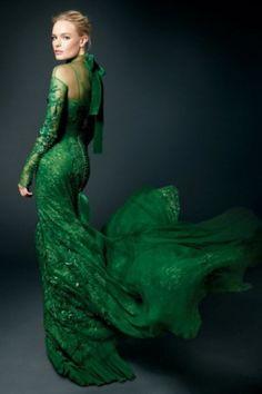Kate in emerald Green.