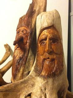 My cousin is so freakin' talented!!  :) Fun with driftwood! Hand-carved by Elizabeth Brown.