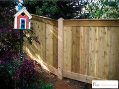 Cedar privacy fence.